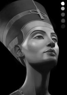 Nefertiti Queen of Egypt WIP by ~TheSatanicNun on deviantART