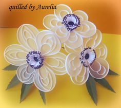 Imagination is the beginning of creation...: Quilling pe vellum: Anemona