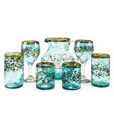 Aqua del Sol Recycled Glassware Collection