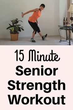 15 Minute Senior Muscle Strengthening - - Pick up your weights and challenge yourself with these senior muscle strengthening exercises to ward off atrophy and osteoporosis. Fitness Workout For Women, Fitness Diet, Yoga Fitness, Fitness Motivation, Health Fitness, Woman Workout, Fitness Wear, Motivation Quotes, Exercise Motivation