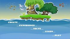 Ansel & Clair Little Green Island. #science #app love the tagline Create, Experience, Solve, Learn & Play