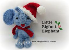 Amigurumi Christmas Elephant - FREE Crochet Pattern / Tutorial