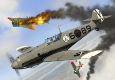 Messerschmitt Bf 109E-1 Gerhardt Halupczek, Condor Legion, Spain, early 1939. First Blood, Airplane Art, Aviation Art, Military Art, Painting & Drawing, Illustrators, Fighter Jets, Spanish, Digital Art