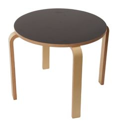 Matt Blatt: Replica Alvar Aalto Table 90B by Alvar Aalto $79 in Black or white