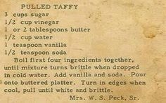 Roots from the Bayou : Family Recipe Friday - Pulled Taffy. If only I could find a soft taffy Retro Recipes, Old Recipes, Vintage Recipes, Candy Recipes, Holiday Recipes, Cooking Recipes, Recipies, Cooking Hacks, Christmas Recipes