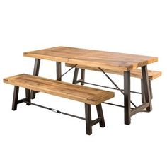 Catriona Acacia Wood Picnic Table - Teak Finish - Christopher Knight Home : Target Kitchen Dining Sets, Dining Room Sets, Patio Dining, Kitchen Tables, Dining Tables, 3 Piece Dining Set, Solid Wood Dining Set, Dining Furniture, Furniture Sets