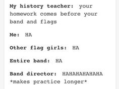 I miss marching band.