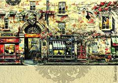 """5 ВИДОВ Карта (тонкая) декупажная """"Для чайных домиков 4 """" - Декупаж,декупажные салфетки Tuscany, Decoupage, Photo Wall, My Arts, Watercolor, Paris, House Styles, Creative, Illustration"""