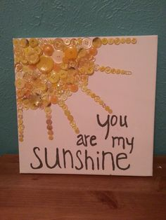 Sunshine Button Art- adapted just a little this could be super cute to work on fine motor skills. Crafts To Make, Easy Crafts, Home Crafts, Crafts For Kids, Arts And Crafts, Art For Kids, Seed Bead Jewelry, Seed Beads, Jewelry Art