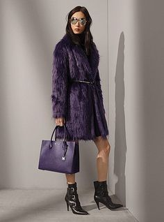 The Faux-Fur Coat, Mercer Grommeted Tote & More - love it - definitely needs a belt though