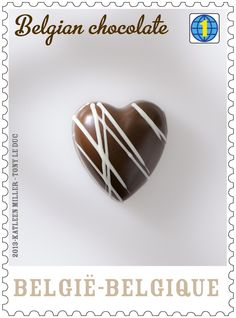 New belgian stamps, they smell of chocolate, and they taste like chocolate ...