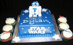 Star Wars R2D2 Cake I made for my nephew with Star Wars Lightsaber cupcakes too.   www.facebook.com/cakeladyhinckley     #Star Wars# is probably the greatest videos ever, so why wouldn't you use a R2d2 Cake, Star Wars Light Saber, Star Wars Birthday, Great Videos, Lightsaber, Bedding, Cupcakes, Facebook, Stars