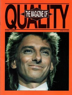 Barry Manilow The Magazine Of Quality Spring 1991