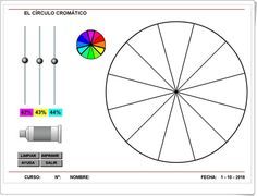 Círculo cromático (Educacionplastica.net) Chart, Picasso, Draw, Colour, Creativity, Colors, Creative, Teaching Resources, Learning