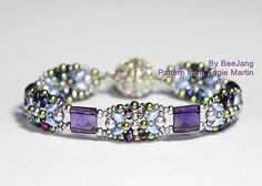 WOW! This beaded Tila bracelet is so eye-catching! Great colors and shimmer. - Brita #BeadMeToYou