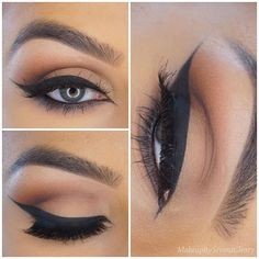 Winged liner and neutral eye