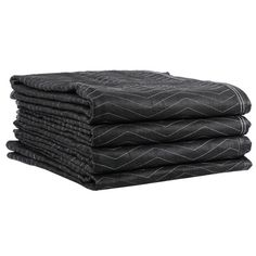"Heavy duty professional performance moving blankets Set of 4 72x80"" Quilted Polyester non-woven fabric with resilient fiber batting filler. Zig Zag quilted with double stitched binding. Provides superior protection of furniture and other items. #Move #Moving blankets #DIY Moving #Professional Movers $48.60"