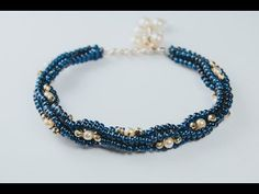 Interlace Bangle - A Bronzepony Beaded Jewelry Design - YouTube