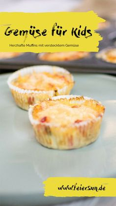 Vegetables for kids - hearty vegetable muffins for small gourmets and big mouths. Muffins with vegetables taste not only sweet in every form and with only minimal carbohydrates it is a delicious low-carb recipe from the book Cooking and Baking with Muffin Recipes, Baby Food Recipes, Low Carb Recipes, Snack Recipes, Healthy Recipes, Vegetable Muffins, Vegetable Soup Healthy, Low Calorie Snacks, Homemade Baby Foods