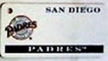 """This is an MLB San Diego Padres Team License Plate Key Chain or Tag. An excellent and affordable gift for an avid MLB fan! The key chain is available with engraving or without engraving. It is a standard key chain made of durable plastic and size is approximately 1.13"""" x 2.25"""" and 1/16"""" thick."""