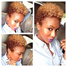 {Grow Lust Worthy Hair FASTER Naturally}>>> www.HairTriggerr.com <<< How Hott n Sassy is this Ombre Blonde TWA!!!