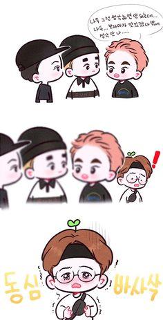 쿠키🍪 (@yooocookie) | Twitter Baekhyun Fanart, Chanyeol, Exo Cartoon, Exo Stickers, Chibi Body, Exo Anime, Exo Fan Art, Funny Cute, Kpop