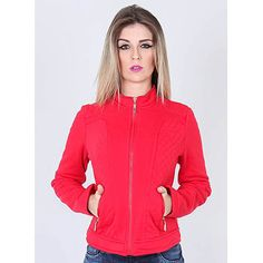 Jaqueta Moletom Feminina Facinelli - Vermelho