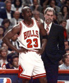 Michael Jordan & Phil Jackson