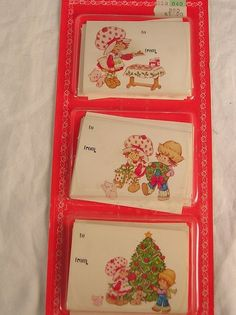 30 Christmas Strawberry Shortcake Gift Trims Gift Tags SEALED #AmericanGreetings #GiftChristmas