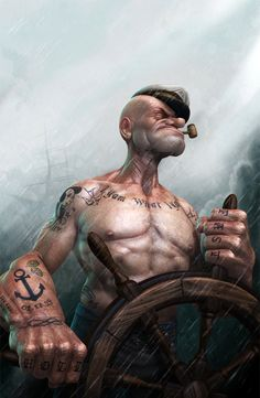 Popeye the Sailor Man by Lee Romao