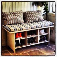 LEKSVIK coffee table to shoe bench #doorway #shoe