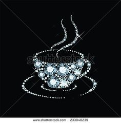 Gem Coffee Cup Stock Vector (Royalty Free) 233048239 - gem coffee cup You are in the right place about diamond jewelry Here we offer you the most beautifu - Costume Jewelry Crafts, Vintage Jewelry Crafts, Antique Jewelry, Handmade Jewelry, Diy Jewelry, Jewelry Making, Jewelry Frames, Jewelry Tree, Jewelry Sets