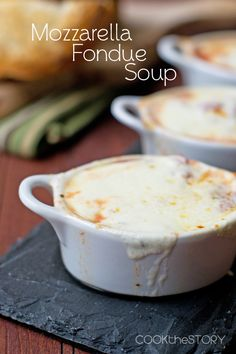 Mozzarella Fondue Soup in 15 Minutes
