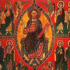 Le Christ entouré des symboles des quatre évangélistes.