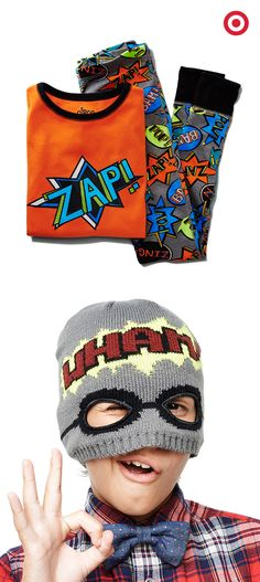 Zap! Pow! Wham! Give him the gift of super-powered superhero pajamas and accessories this Christmas, and watch those evil empires fall.