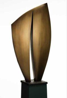 Cast bronze Minimalist Abstract Sculptures #sculpture by #sculptor Jack Biesek titled: 'Sail Away II' £6500 #art