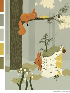 Sleepers by Camilla Engman; color palette by Ez at creature comforts