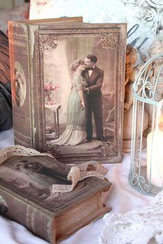De Ofélia House - Rústico - Shabby Chic - Decoração vintage em que é melhor: o livro vai.