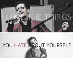 (I'm probably the only person in the whole world who interprets P!ATD lyrics as Brendon Urie talking about me. Emo Bands, Music Bands, Music Lyrics, Music Quotes, Music Is Life, My Music, The Wombats, Panic! At The Disco, Panic At The Disco Lyrics
