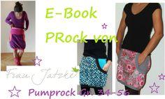Mit diesem E-Book kannst du dir ganz einfach und schnell einen wunderschönen Pumprock zaubern. Diesen tollen PRock kannst als Rock oder als Kleid tragen. Er hat riesengroße Hamstertaschen ;) Die Anleitung ist supereinfach und auch für Anfänger zu vers