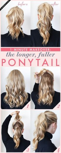 2. #Fuller Ponytail - 16 Gorgeous Hair #Styles for Lazy Girls like Me ... → Hair #Ponytail