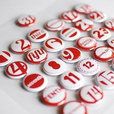 2-Day Hooray Number Button Embellishments by ormolu