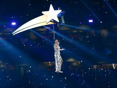 Katy Perry performs during  halftime of Super Bowl