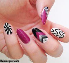OMG nail strips Geometric design
