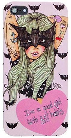 Valfre ( ヴァルフェー ) ロサンゼルス の コウモリ 仮面 な 女の子 iphoneケース BAT HABITS IPHONE 5 5S CASE ガール アメリカンアート アイフォン ケース モバイル カバー apple iphone5 iphone5s 海外 ブランド