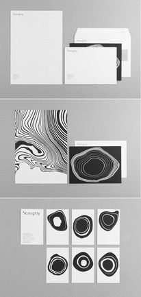 Almighty Identity, an interior design and home staging company by Demian Conrad Design using an interesting technique. The pattern of...