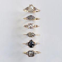 Everyday diamonds featuring our Athena Lune Pascale &. Diamond Wedding Rings, Diamond Engagement Rings, Bridal Jewelry, Jewelry Box, Jewellery, Salt And Pepper Diamond, Pretty Rings, Beautiful Rings, Fantasy Jewelry