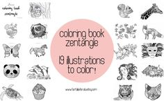 Coloring book adults zentangle to be printed zentangle art
