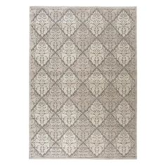 Stylishly anchor your living room or master suite with this artfully crafted rug, showcasing an ornate diamond trellis motif.  Produ...