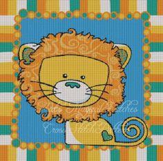 Lion Baby Cross Stitch Pattern